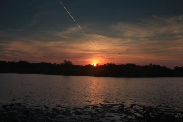 Sunrise over a local wetland in Cherokee, Co. Ks.